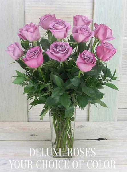 Single (Choice of) Color Deluxe Roses in Raleigh NC, Fallons Creative Flowers