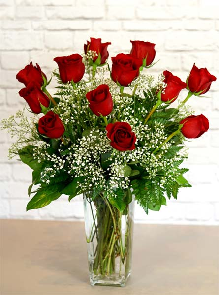 One dozen deluxe red roses. in Clarks Summit PA, White's Country Floral