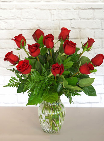 One Dozen Classic Red Roses in Wheaton IL, Expressions Flowers