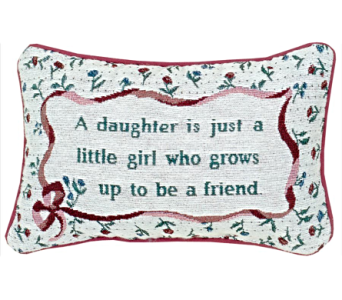 Throw Pillow - Daughter in East McKeesport PA, Lea's Floral Shop