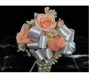 Light Pink Spray Rose Corsage in Greenville SC, Expressions Unlimited
