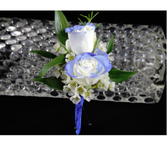 Tip Dyed White Spray Rose Boutonniere  in Greenville SC, Expressions Unlimited