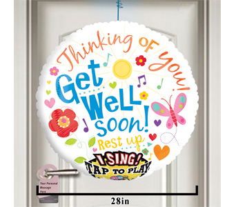 Get Well Singing Balloon! by 1-800-balloons