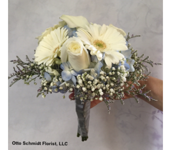 Hand-Tied Blue & White in Philadelphia PA, Schmidt's Florist & Greenhouses
