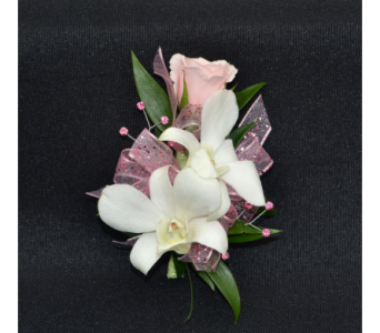 Dendrobium Orchids with Sweetheart Rose Corsage in Zeeland MI, Don's Flowers & Gifts