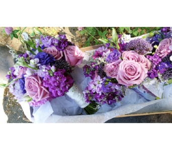 Lavender Bouquet in Watertown CT, Agnew Florist