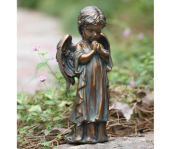 Bronze Standing Angel in Owensboro KY, Welborn's Floral Company