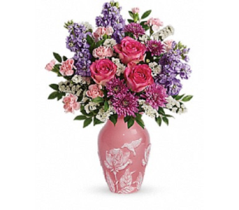 Pink Vase Splash in Ft. Lauderdale FL, Jim Threlkel Florist