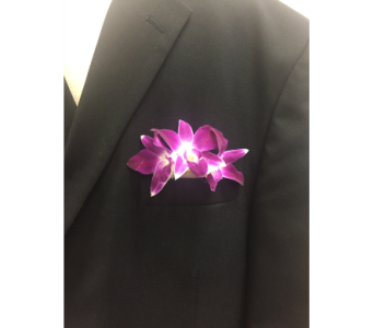 Dendrobium Orchid Pocket Square in Frederick MD, Flower Fashions Inc