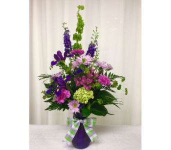 Vivid Violet Vase in Titusville FL, Floral Creations By Dawn