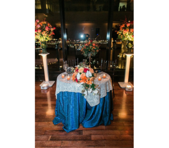 Blue table in Watertown CT, Agnew Florist