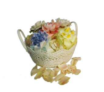 Lux Candle Blooms Basket in Little Rock AR, Tipton & Hurst, Inc.