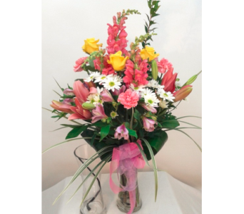 Swirl Vase Arrangement in Alliston, New Tecumseth ON, Bern's Flowers & Gifts
