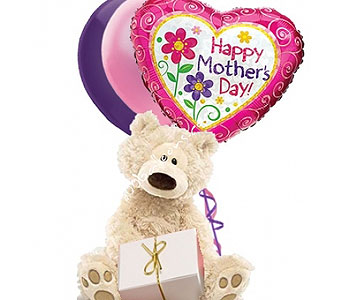 Medium Mothers Day Bear W Small Box of Chocolate by 1-800-balloons