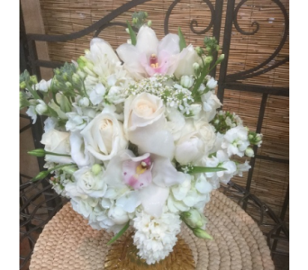 Cream and Pink in Vero Beach FL, Artistic First Florist
