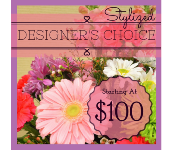 Premium Stylized Designer's Choice in Utica NY, Chester's Flower Shop And Greenhouses