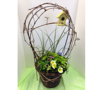 Blooming Planter - Birdhouse in Crafton PA, Sisters Floral Designs