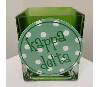 Kappa Delta Cube Bouquet in Lawrence KS, Owens Flower Shop Inc.