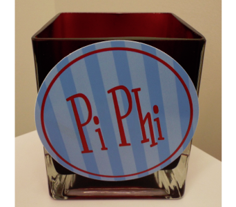 Pi Beta Phi Cube Bouquet in Lawrence KS, Owens Flower Shop Inc.