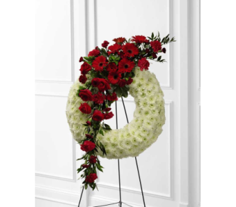 Graceful Tribute Wreath in Bowmanville ON, Van Belle Floral Shoppes