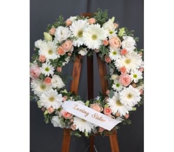 Peaceful Wreath in Bowmanville ON, Van Belle Floral Shoppes