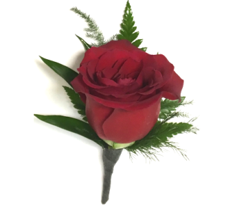 Classic Red Rose Boutonniere in Wyoming MI, Wyoming Stuyvesant Floral