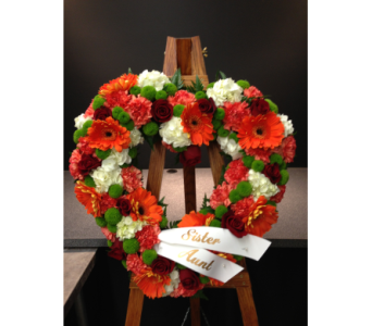 Orange Heart in Bowmanville ON, Van Belle Floral Shoppes
