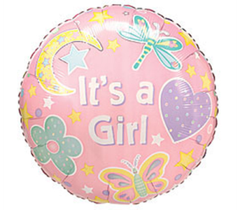 Baby Girl Mylar Balloon in Manhasset NY, Town & Country Flowers