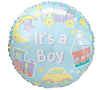 Baby Boy Mylar Balloon in Manhasset NY, Town & Country Flowers