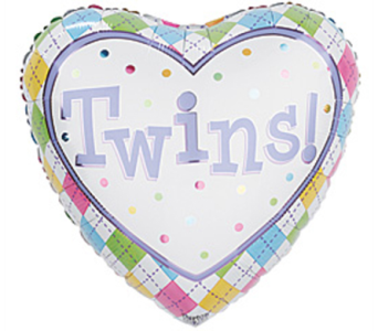 Twin Babies Mylar Balloon in Manhasset NY, Town & Country Flowers
