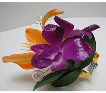 Orchid Corsage in Traverse City MI, Teboe Florist