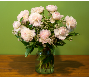 Light Pink Peony Vase in Merrick NY, Feldis Florists
