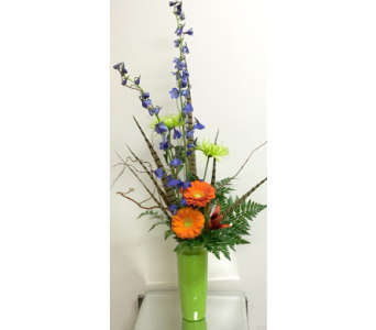 Citrus Style Arrangement - 3 Vase Colors Available in Wyoming MI, Wyoming Stuyvesant Floral