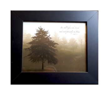 Psalm 37:7 Framed Art  in Hendersonville TN, Brown's Florist