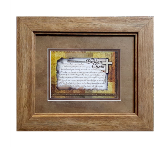 Framed Poetry Art - Broken Chain in Hendersonville TN, Brown's Florist