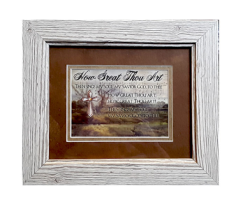 How Great Thou Art Framed Poetry Gift in Hendersonville TN, Brown's Florist
