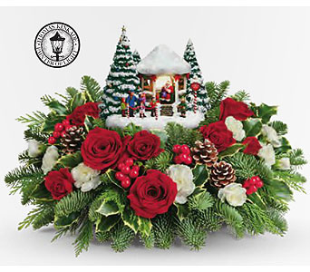 Thomas Kinkade's Jolly Santa Bouquet in Calgary AB, All Flowers and Gifts