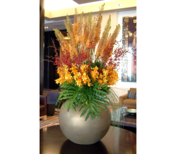 Tropical Lobby Design in Somerset NJ, Flower Station