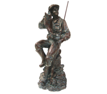 Fisherman Figurine in Moorhead MN, Country Greenery