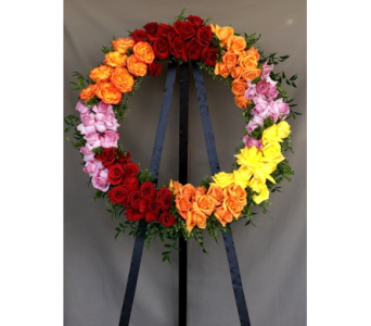 Forever Rose Wreath in Los Angeles CA, Dave's Flowers