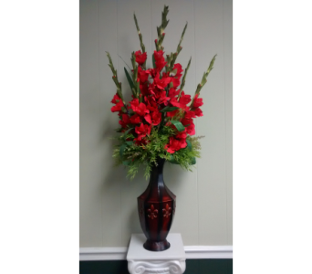 Silk Red Gladiolus  in Athens GA, Flower & Gift Basket