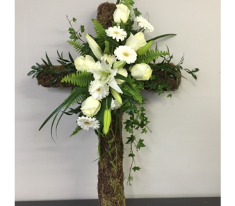 Twig & Vine Sympathy Cross in Bowmanville ON, Van Belle Floral Shoppes