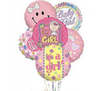 It's a Girl Balloon Bouquet in Princeton, Plainsboro, & Trenton NJ, Monday Morning Flower and Balloon Co.