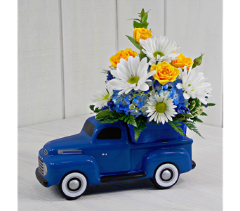 1948 Vintage Ford F1 with Flowers in Indianapolis IN, Steve's Flowers and Gifts