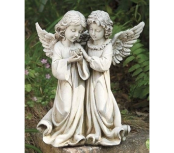 Angels with Bird Statue in Warren MI, Downing's Flowers & Gifts Inc.