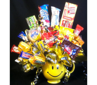 Smiling Face Mug & Snacks in New Iberia LA, Breaux's Flowers & Video Productions, Inc.