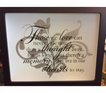 Inspirational Light Box in Oakland City IN, Sue's Flowers & Gifts