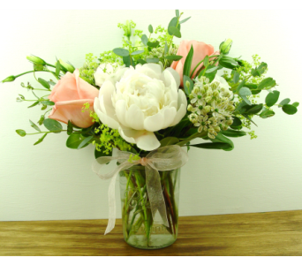 Peaches and Cream in North Vancouver BC, Special Moments Flowers And Gifts