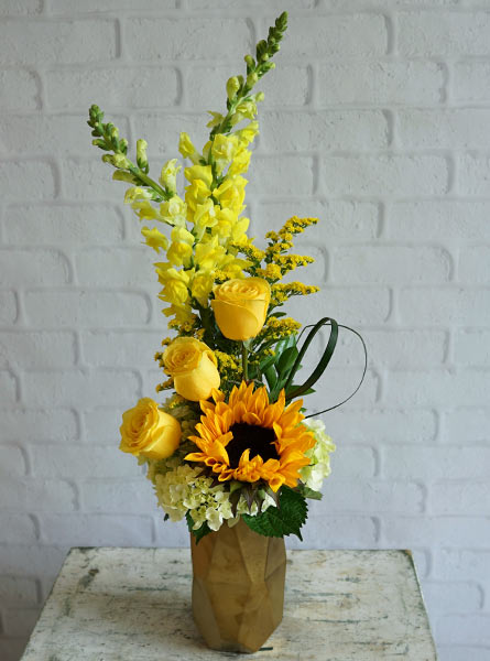 Glistening Golds  in Raleigh NC, Fallons Creative Flowers