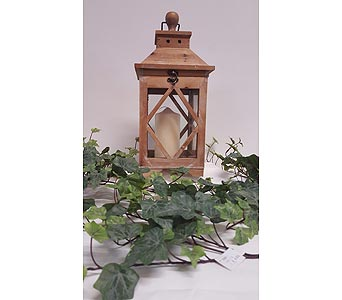 Rustic Wood Lantern - Sml in Owensboro KY, Welborn's Floral Company